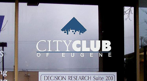City Club of Eugene Window