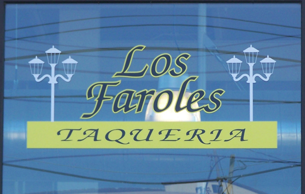 Los Faroles Restaurant Front Window