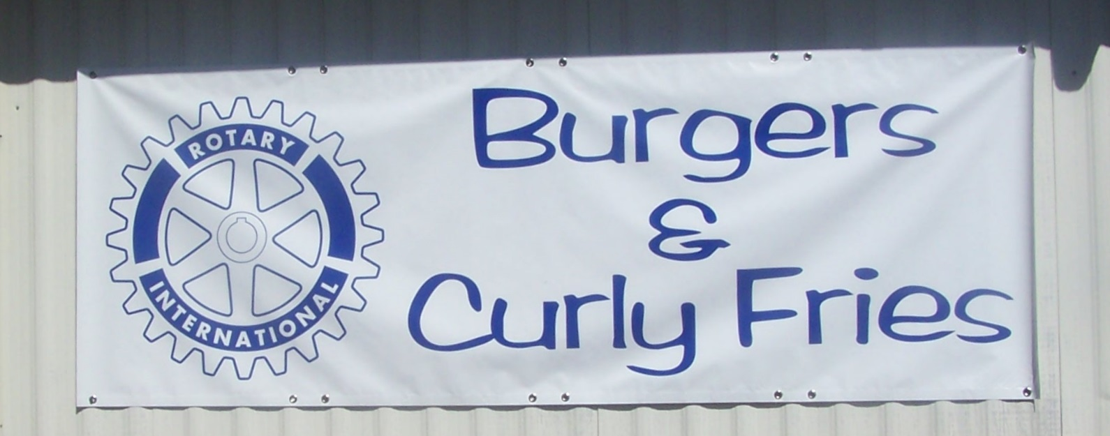 Burgers & Curly Fries Banner by Bason Signs