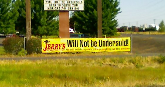 Jerrys Home Improvement Banner by Bason Signs
