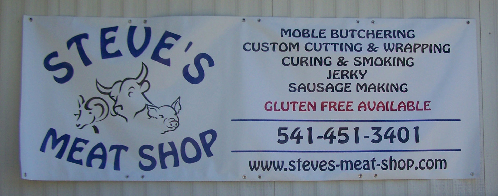 Steves Meat Market Banner by Bason Signs