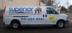 Superior Carpet Cleaning Van